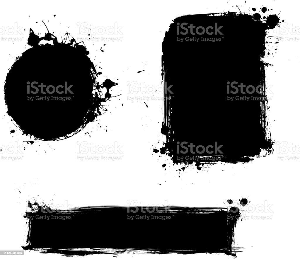 Conjunto de Grunge de fondos - ilustración de arte vectorial