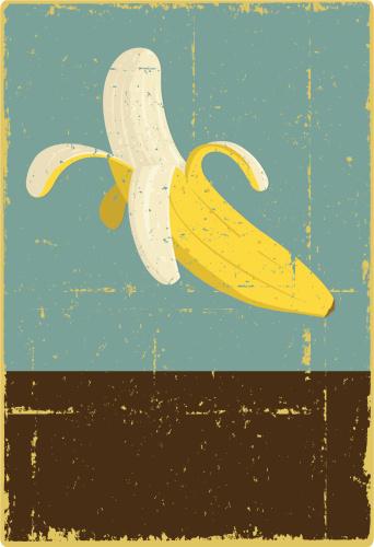 Grunge Banana Sign