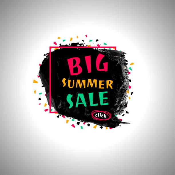 Grunge banner - Big summer sale vector art illustration