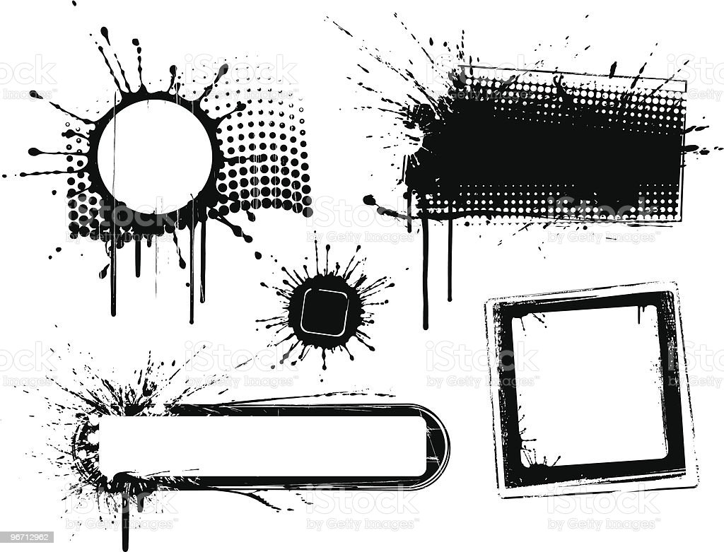 Grunge Banner Collection royalty-free stock vector art