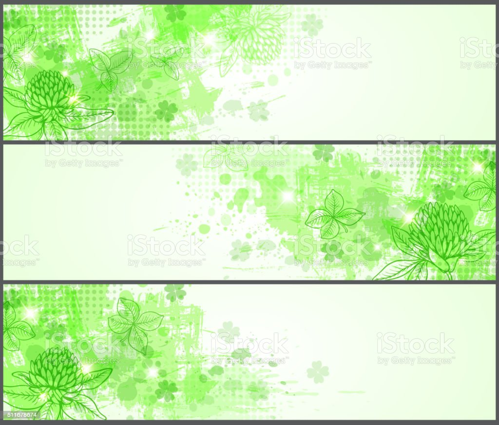 Grunge banners for St. Patrick's Day