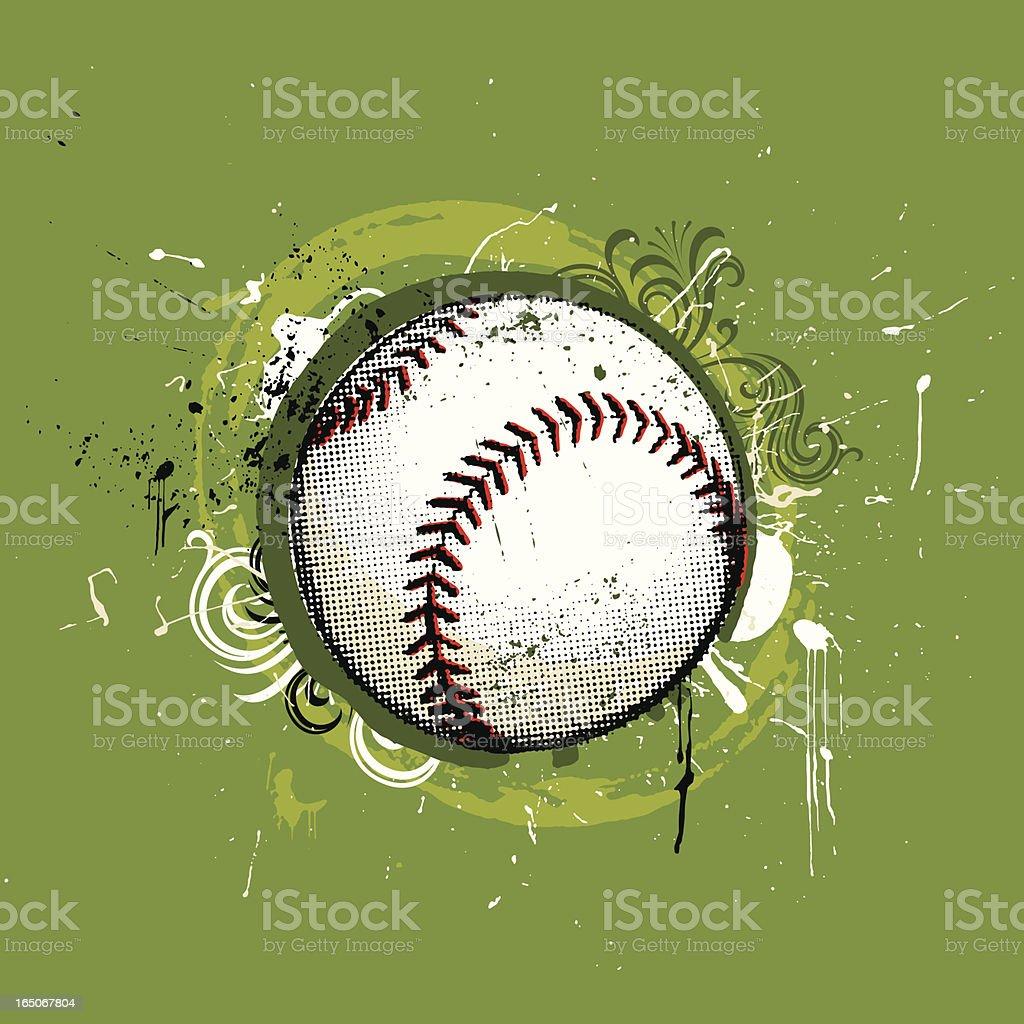 grunge-baseball – Vektorgrafik