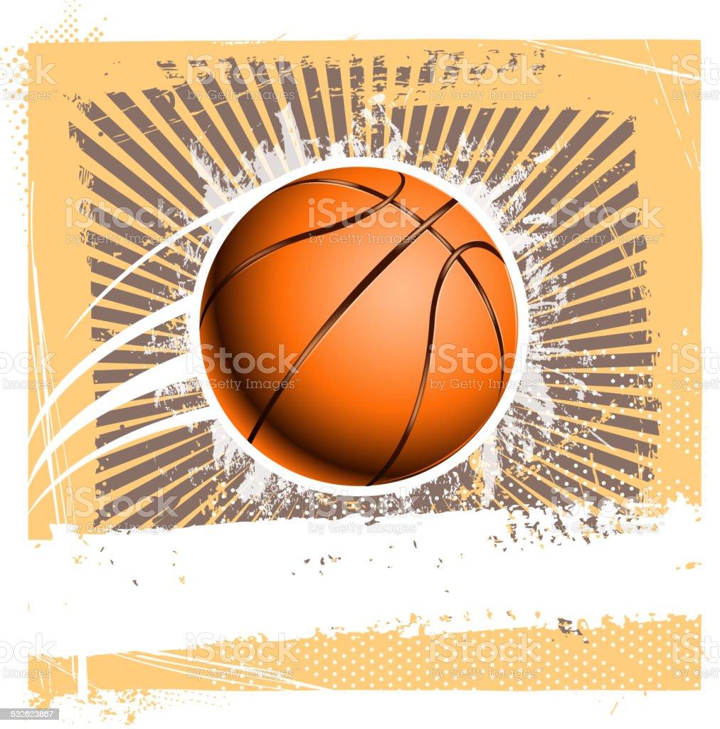 grunge basketball background vector art illustration