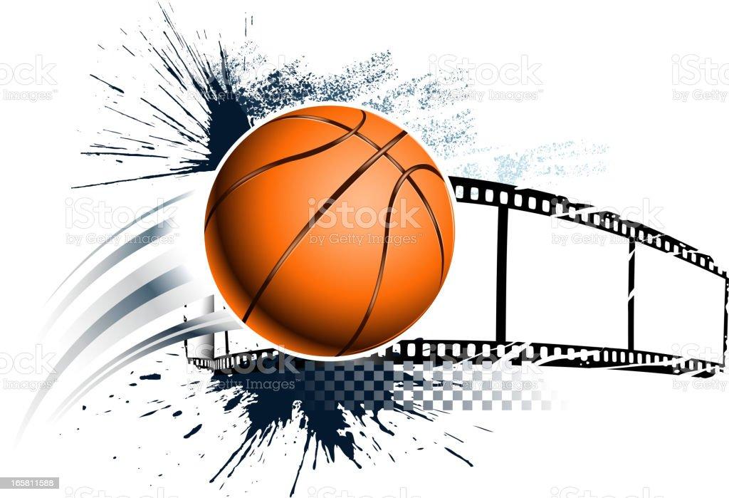 grunge basketball materials royalty-free stock vector art