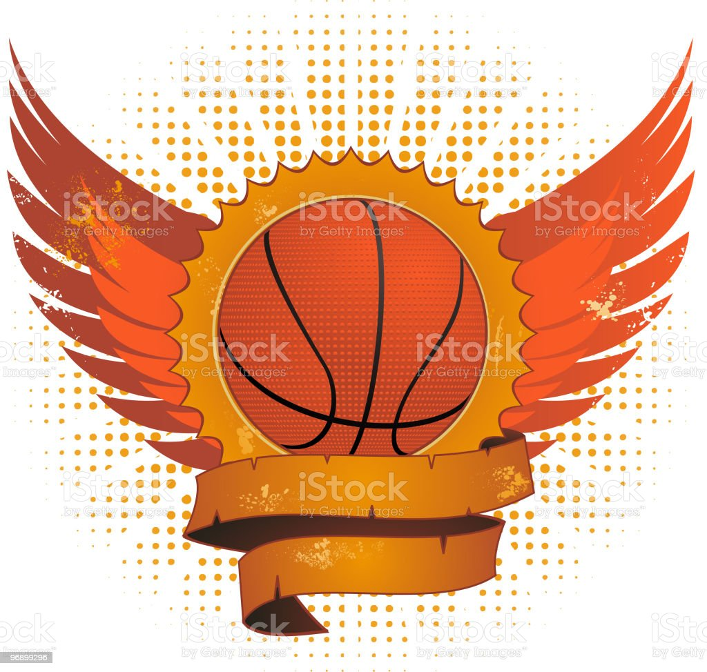 Grunge basketball shield royalty-free grunge basketball shield stock vector art & more images of backgrounds