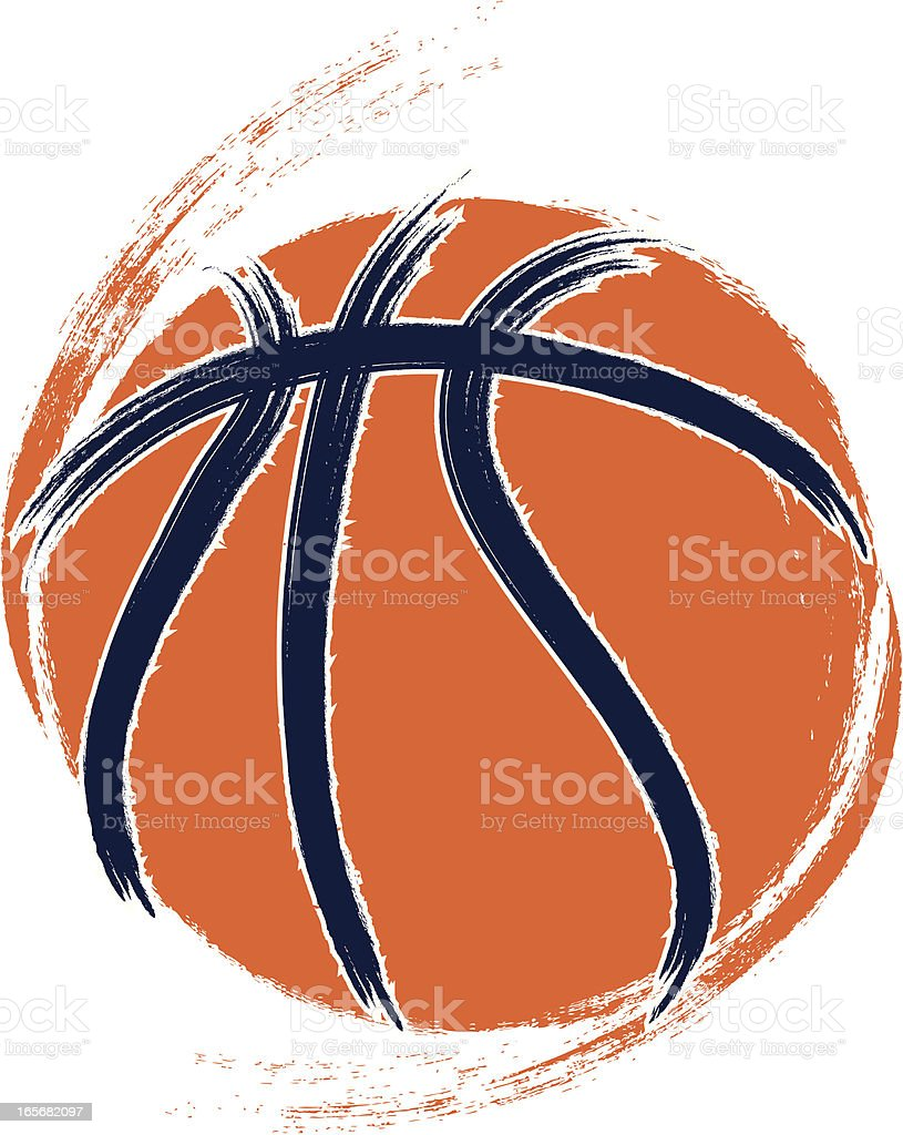 Grunge Basketball vector art illustration