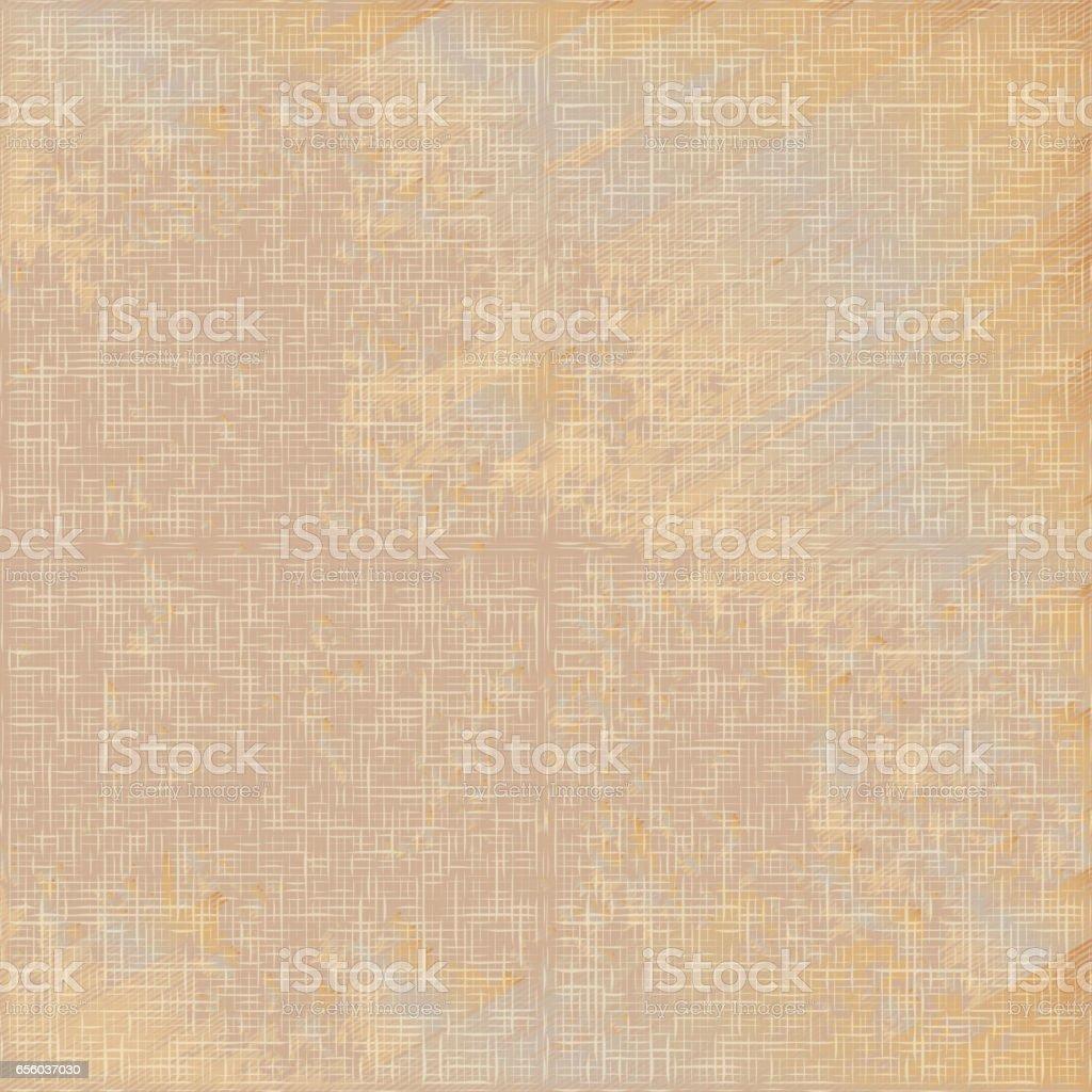 Grunge beige linen texture seamless pattern vector vector art illustration