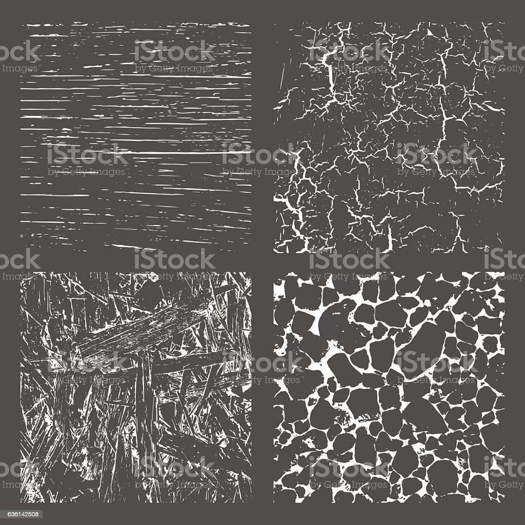 Grunge Black and White Distress Texture . vector art illustration
