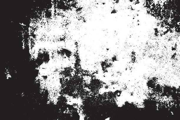 grunge black and white scratched textured background. abstract messy and distressed element. (vector) - double exposure stock illustrations