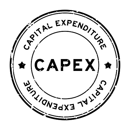 Grunge black CAPEX Capital Expenditure word round rubber seal stamp on white background