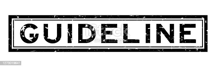 Grunge black guideline word square rubber seal stamp on white background