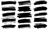 istock Grunge black paint marker strokes vector 1268307595