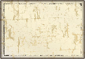 grunge blank metal sign or distressed picture frame, free copy space, vector illustration