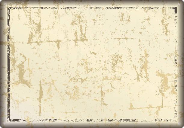 bildbanksillustrationer, clip art samt tecknat material och ikoner med grunge blank metall skylt eller nödställda bildram, gratis kopia utrymme, - det förflutna