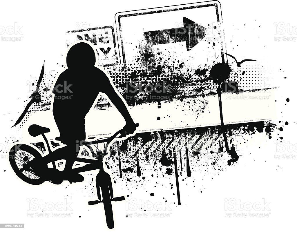 Grunge BMX Biker royalty-free grunge bmx biker stock vector art & more images of abstract