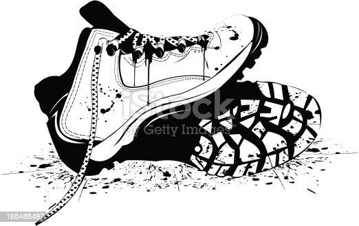 B & W boots