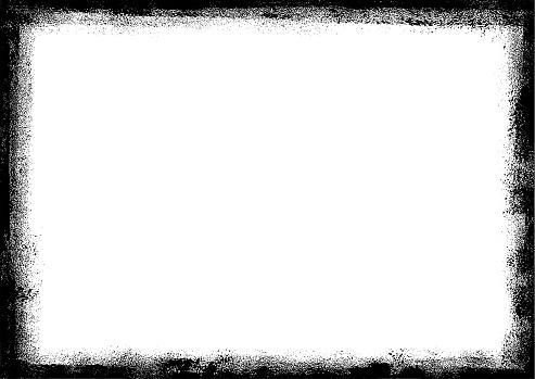 Grunge border frame. Paint rectangle design element