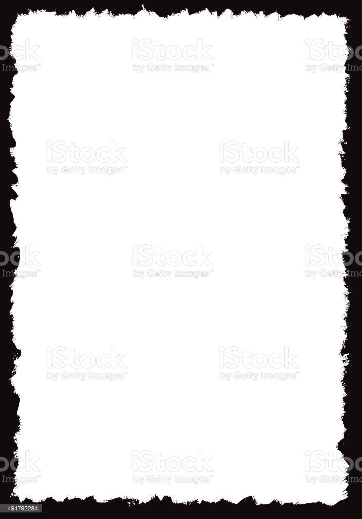 Grunge border frame vector art illustration