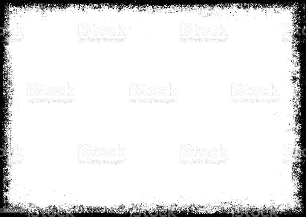 Grunge Frame Grenze Stock Vektor Art und mehr Bilder von Abstrakt ...