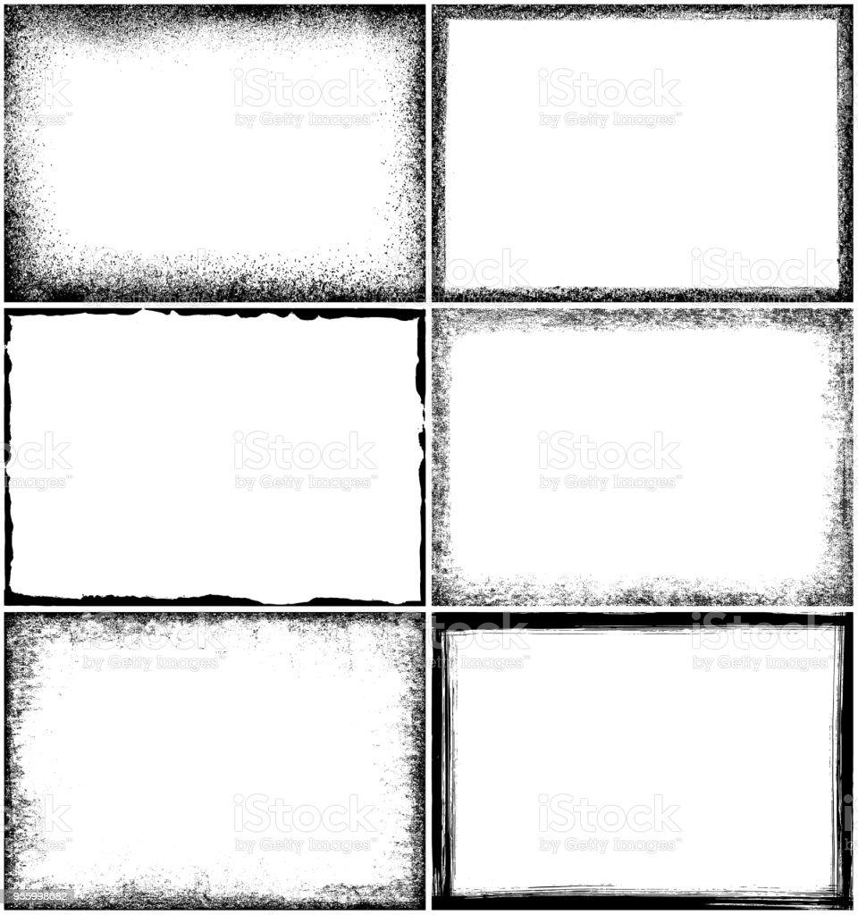 Grunge Border Frames Stock Illustration - Download Image Now