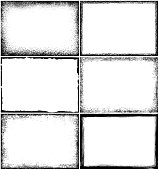 Set of grunge border frames. Rectangle design elements