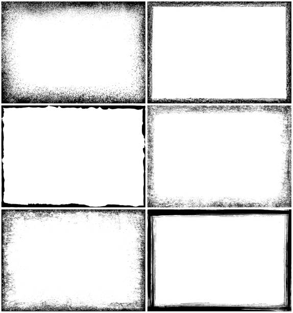 grunge border frames - grunge frames stock illustrations, clip art, cartoons, & icons