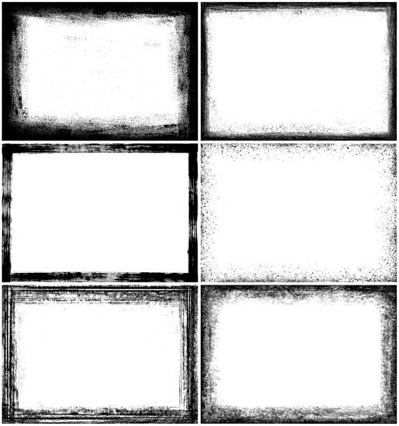 grunge border frames - grunge frames stock illustrations