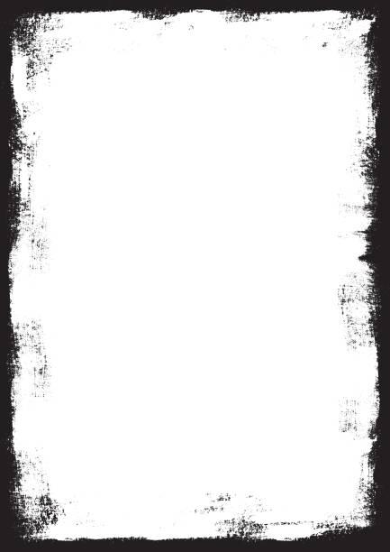 grunge border (vector & xxl jpg) - artsy backgrounds stock illustrations