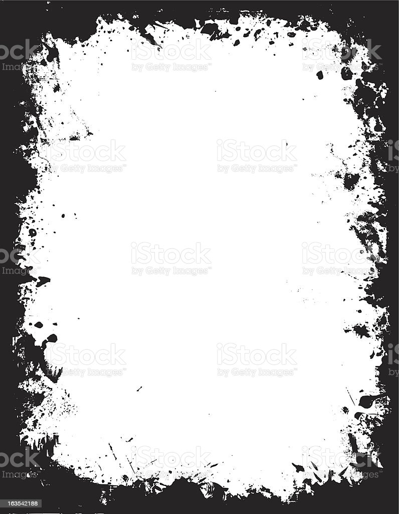 Grunge border - vector vector art illustration