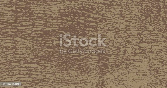 istock Grunge Braun Urban Vector Texture Template. Dark Messy Dust Overlay Distress Background. Easy To Create Abstract Dotted, Scratched, Vintage Effect With Noise And Grain 1216779083