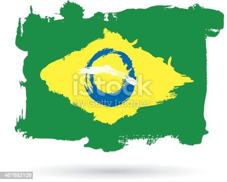 istock Grunge Brazil flag 467663109