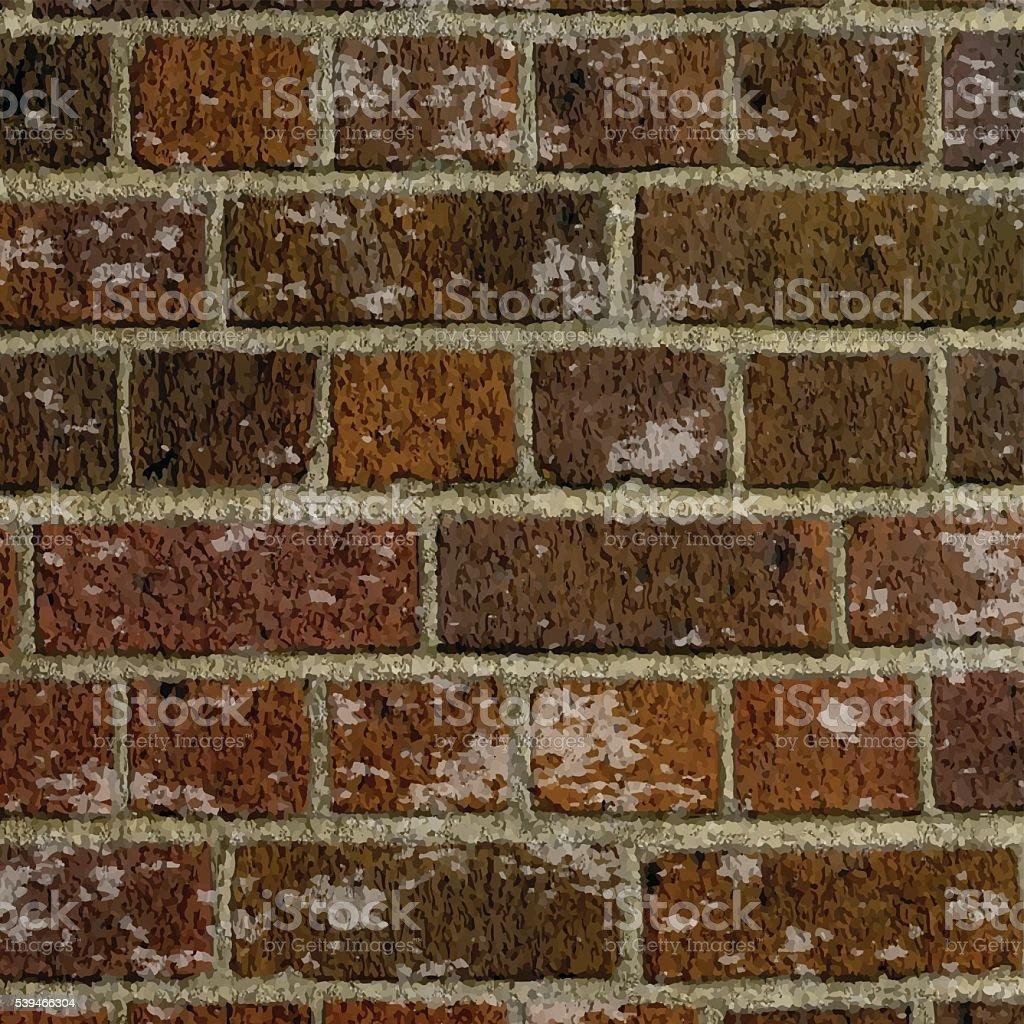 Grunge brick wall texture vector art illustration