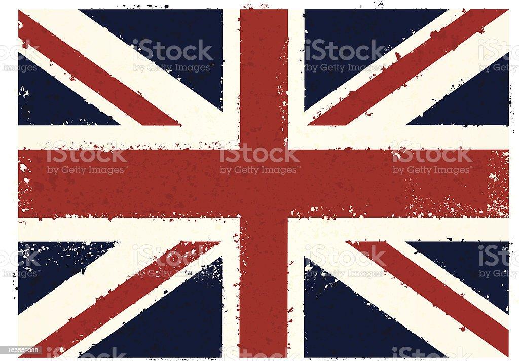 Grunge British Flag royalty-free stock vector art