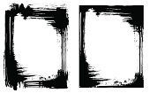 Grunge brush smear frame (2 variations)