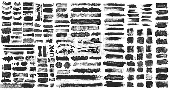 istock Grunge Brush Stroke Paint Boxes Backgrounds 1062449376
