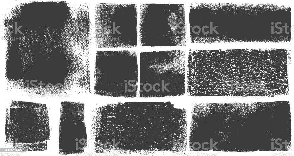 Grunge Brush Stroke verf vakken achtergronden - Royalty-free Abstract vectorkunst