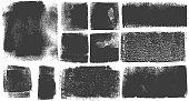 istock Grunge Brush Stroke Paint Boxes Backgrounds 1063264452