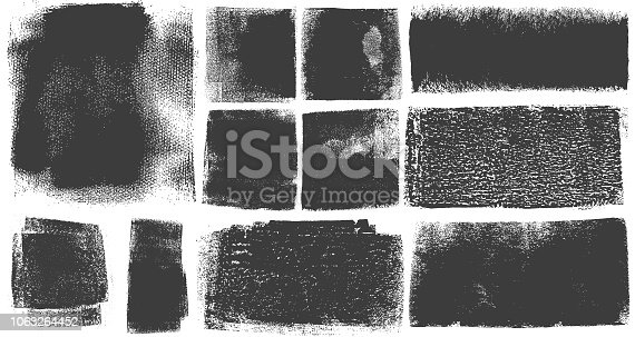 Grunge Brush Stroke Paint Boxes Backgrounds Black and White