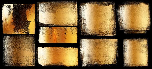 Grunge Brush Stroke Paint Boxes Backgrounds