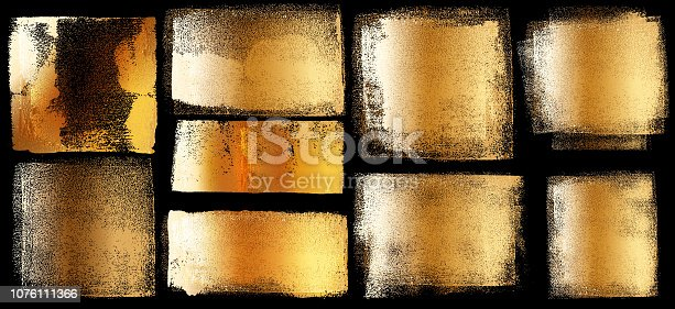 Gold Grunge Brush Stroke Paint Boxes Backgrounds
