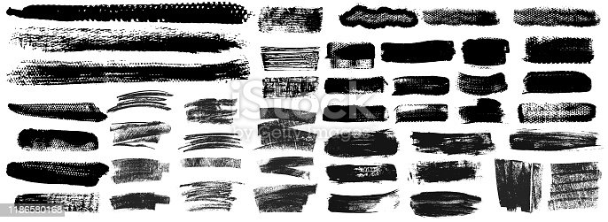 istock Grunge Brush Stroke Paint Boxes Backgrounds 1186580168