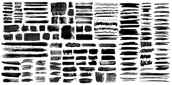 Grunge Brush Stroke with Pen Scribble Brushes