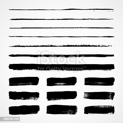 Vector illustration of some grunge paint brush strokes.