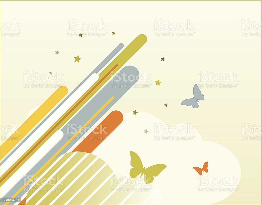 Grunge butterflies royalty-free stock vector art