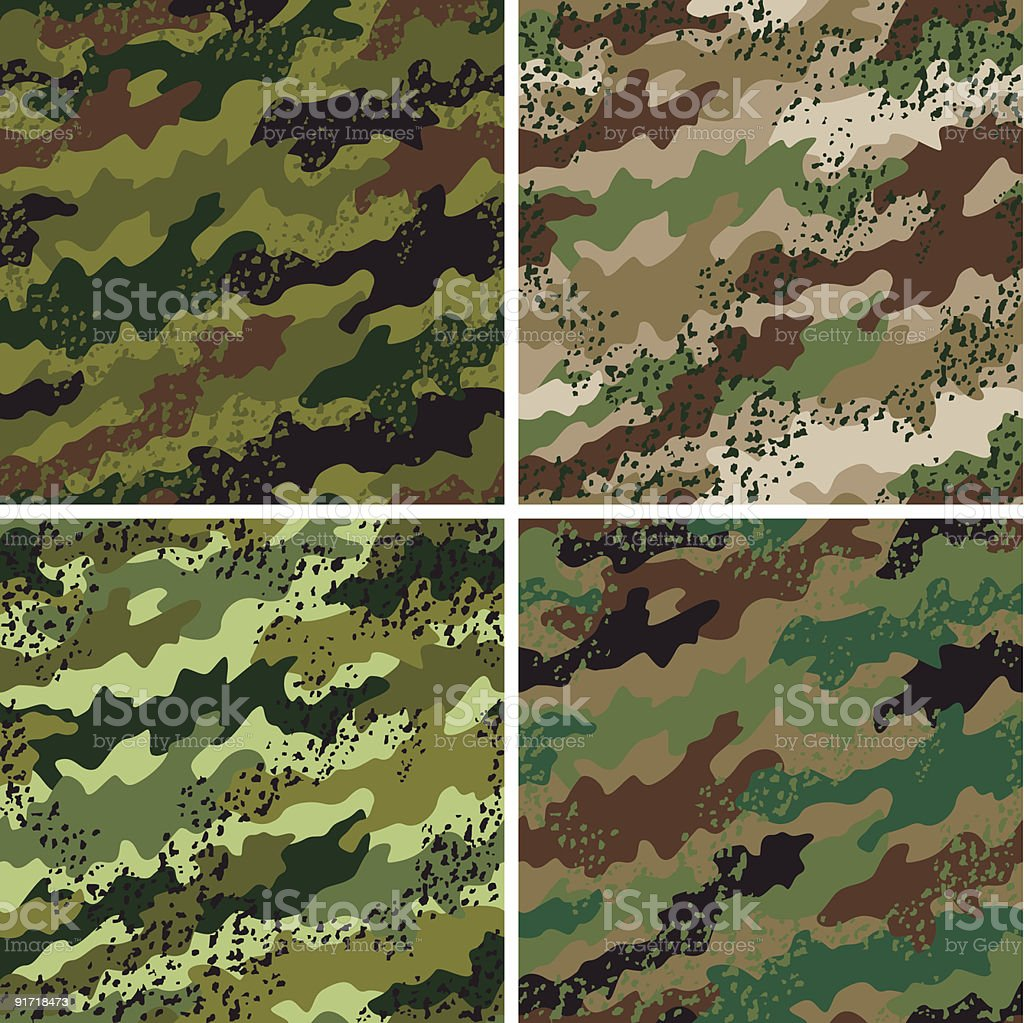 Grunge Camouflage Pattern royalty-free grunge camouflage pattern stock vector art & more images of abstract