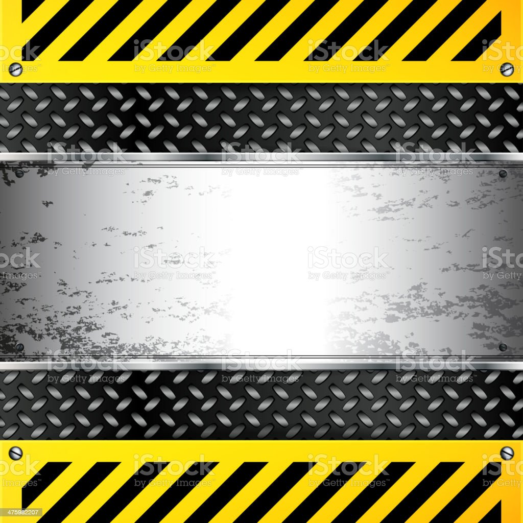 Grunge Caution Background royalty-free stock vector art