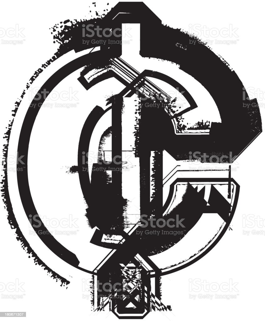 Grunge Cent Symbol Stock Vector Art More Images Of Business