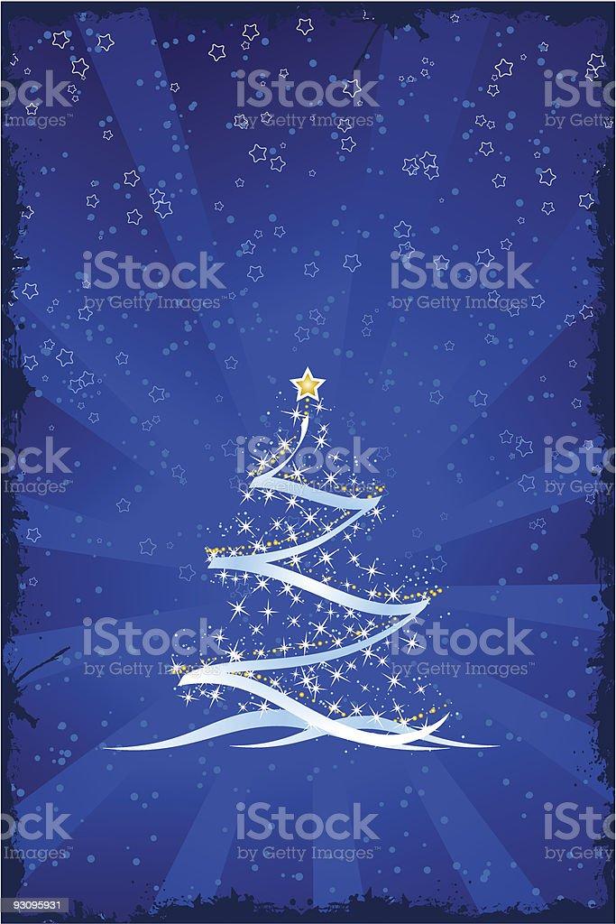 Grunge Christmas tree royalty-free stock vector art