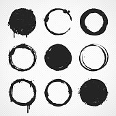 Detailed vector illustration of some grunge circles.