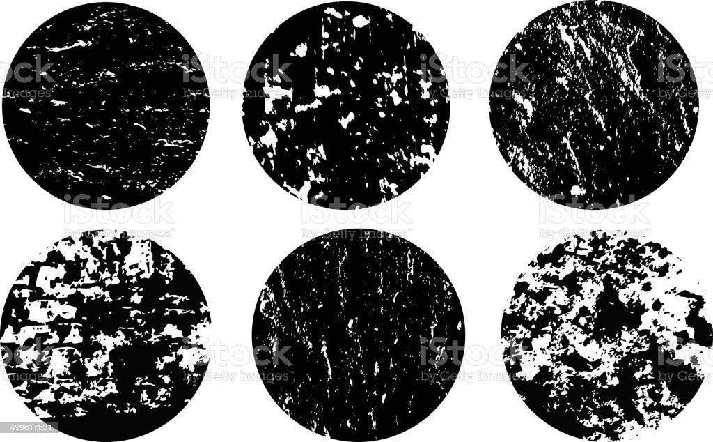 Grunge circles vector art illustration
